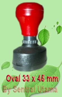 Stempel Oval 33 x 45 mm