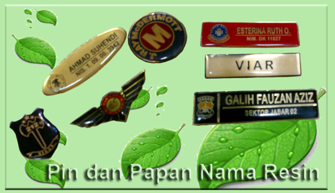 Papan Nama,Pin